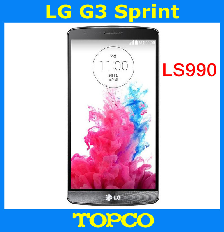 "LG G3 Sprint LS990 Original Unlocked GSM 3G&4G Android Quad-core RAM 3GB 5.5"" 13MP 32GB WIFI GPS Cell Phone(China (Mainland))"