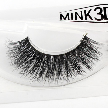New 1 pair 3D mink eyelash 100%real mink Fur Handmade Crossing lashes ...