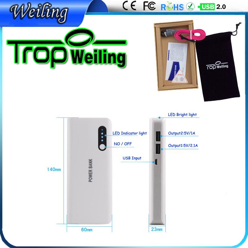 Weiling power bank diy 16800mAh powerbank 18650 for all phones/IPAD / iphone 6 s portable best external battery