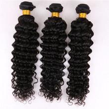 Top Quality Malaysian Deep Curly Virgin Hair 100g/pc3 Bundles100% Virgin Unprocessed Mlaysian Virgin Human Hair Waeves