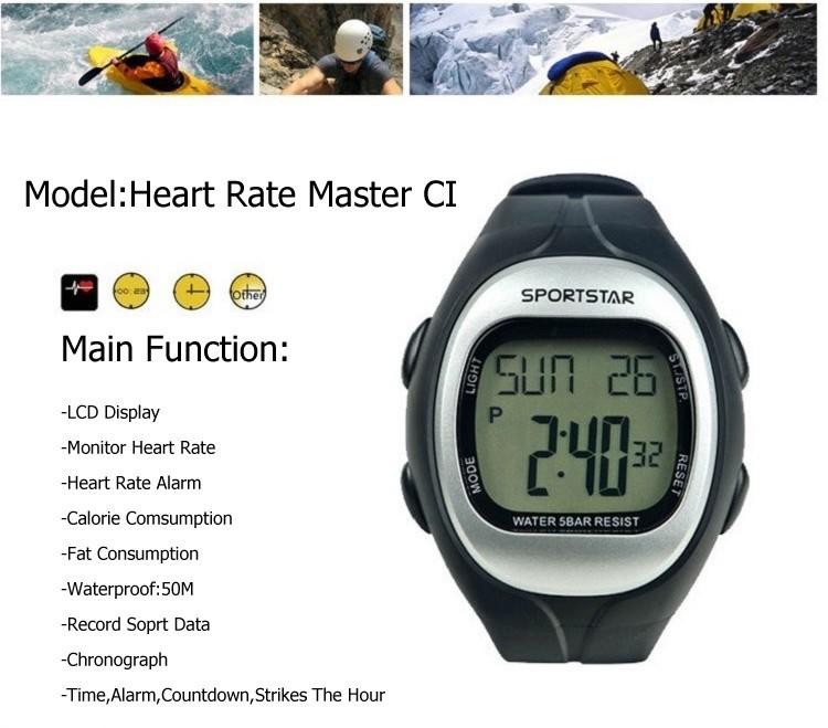 SPORTSTAR Heart Rate Master CI sport running watch with chest belt