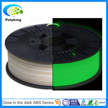 glow in the dark green 3D Printer Filament ABS filament 1.75mm 3mm 32 colors 1kg spool