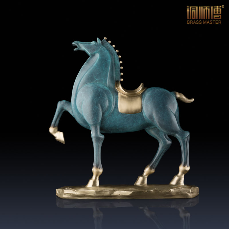 High Quality Mighty General Horse Statue Home Decoration Brass Copper Horse Furnishing Articles Business Gift(China (Mainland))