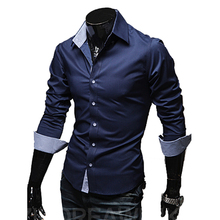 Buy Mens Casual Shirts 2016 Hot Sale Mens Slim Fit Dress Long Sleeve Shirts Soild Male Social Shirts Designer Chemise Homme 3XL 25 for $8.88 in AliExpress store