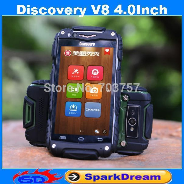 Discovery V8 Dustproof Shockproof 4 Inch IPS Android 4.2 Dual core Dual SIM Cameras Smart Phone GPS WIFI