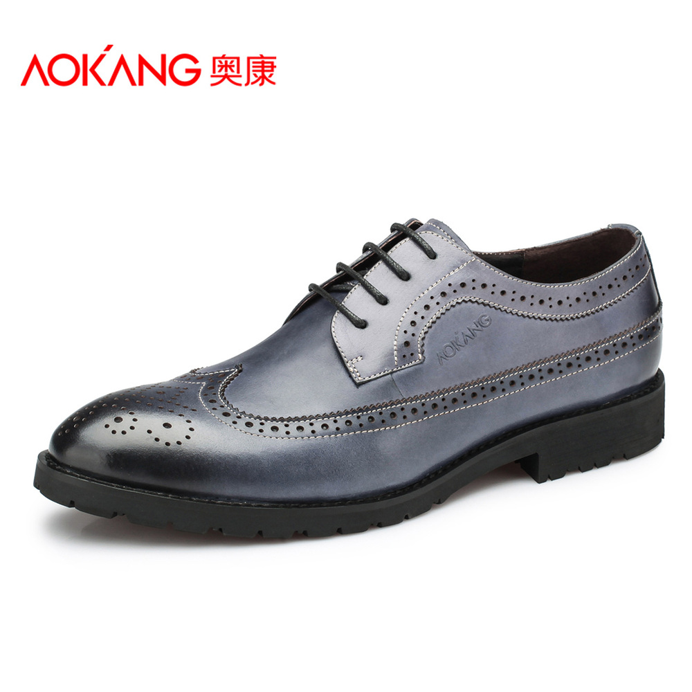 Aokang Brogue Shoes Genuine Leather