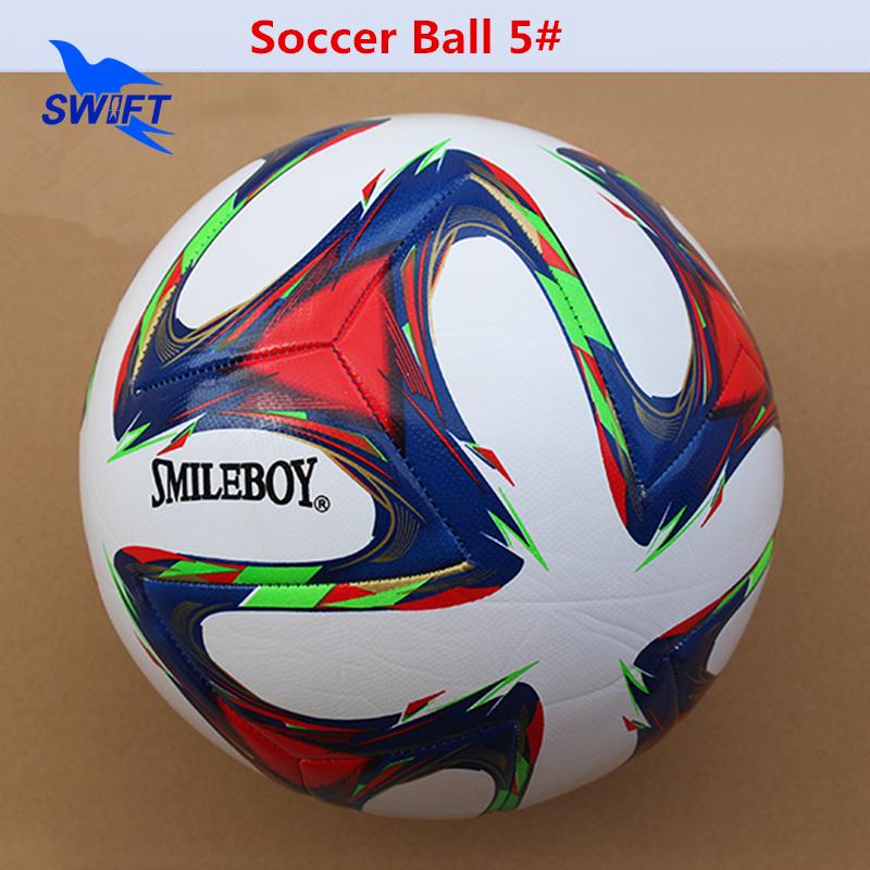 High Quality 2015-2016 Soccer Ball TPU Leather Football Ball For Match Cheap Size 5 Training Football Balls Free Shipping(China (Mainland))