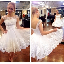 Elegant Pearl White Short Homecoming Dress 2016 Scoop Sleeveless Open Back Mini Prom Party Dress vestido curto with lace up(China (Mainland))