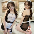 SM Exotic Apparel Sexy Cosplay Women Lace Student Maid Erotic Uniform Babydoll Sleepwear Sexy Lingerie Hot