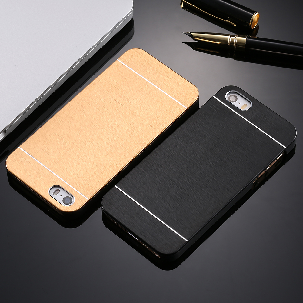 Cool Metal Gold Case For Apple iphone 5 5S SE Aluminum Plastic Hard Back Phone Accessories Brand Logo Luxury Cover for iPhone 5S(China (Mainland))