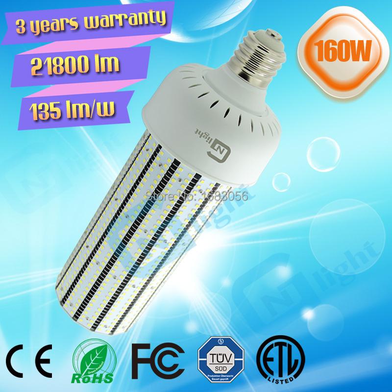 parking lot Canopy retrofit Kits gas station smd bulb light 160W led lamps indoor corn bulb light(China (Mainland))