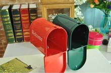 new arrival Zakka photo props/home decoration Mailbox with stand/ Storage for Letter Box /greeting /post card Free Shipping(China (Mainland))