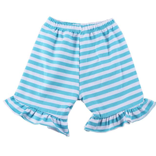 Девушки шорты раффлед хлопка с коротким для летних детей широкий красочные пляж бермуды дети свободного покроя шорты брюки 1 - 6 т эластичный пояс