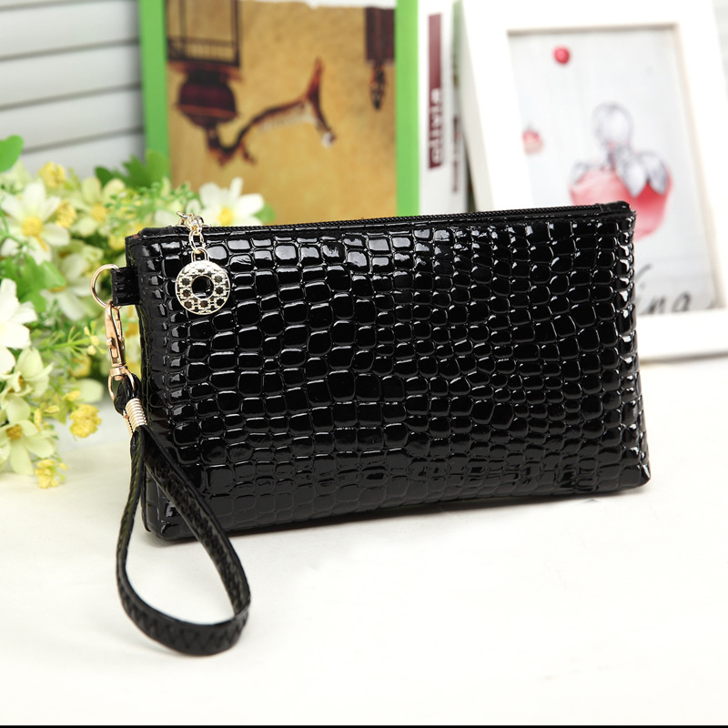 Ms. Clutch clutch bag women's casual crocodile clutch bag purse mobile phone(China (Mainland))