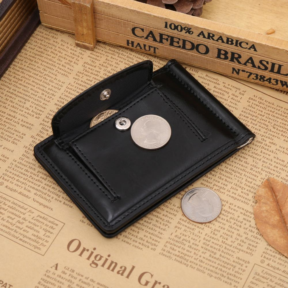 New Europe And Ameica Style Men Coin Packet Wallets PU Leather Business Card Holder Wallet 2 Color Short Money Purse ID Holder <br><br>Aliexpress