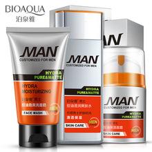 Мужчины Глубоко Очищающий Cleanser + Тонер + Эмульсия Мужчины Уход За Кожей Лица 3 шт./компл. Увлажняющий Увлажняющий Контроля Уровня Масла Освежающий Уход За Кожей(China (Mainland))
