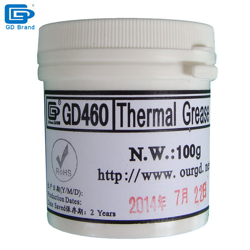 Free shipping N.W. 100g Silver NEW GD460 Thermal Conductive Grease Paste Silicone Heat Sink Compound For CPU GPU LED PS3 CN100(China (Mainland))