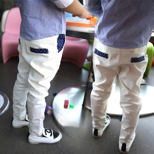 Autumn new children's curling white suit pants / boy casual trousers /children's christmas clothing /kids fashion clothes(China (Mainland))