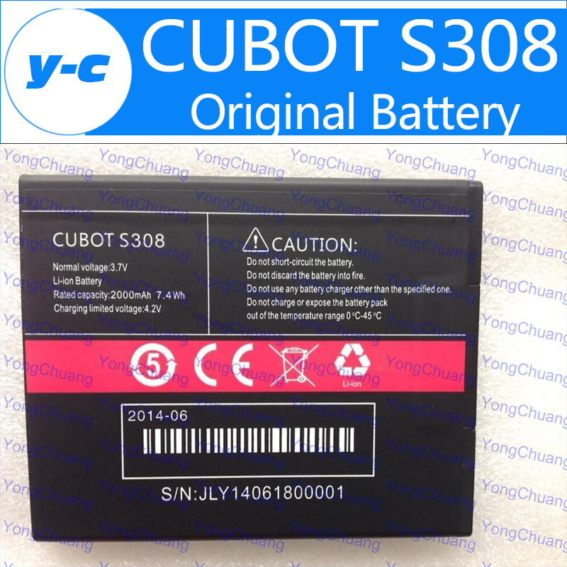 Original 2000Mah Battery For CUBOT S308 Smartphone