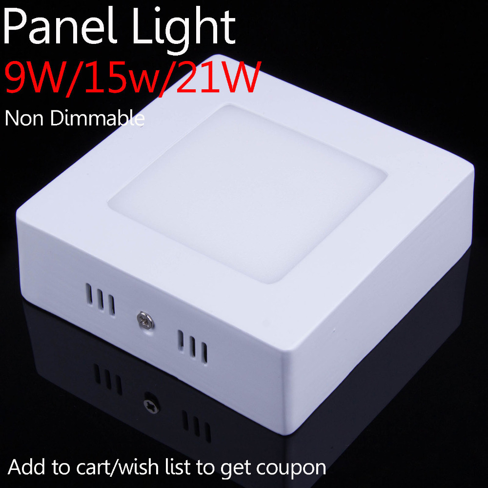 In Stock 9W 15W 21W Non Dimmable Surface Mounted painel de LED Downlight Panel Light Kitchen Lamp(China (Mainland))