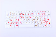 (100pcs) Flower Bloom Blossom Silicone keyboard Skin Protector Cover Guard for Apple Macbook Pro Air 13″ 15″Pro Retina 13 15 17