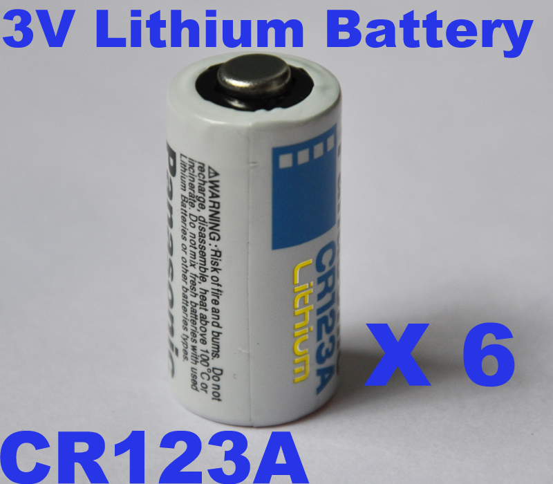 6PCS/lot 3V lithium battery cell 16340 CR123a CR123 CR 123A 1400mAh Non rechargeable primary battery for camera and photo(China (Mainland))
