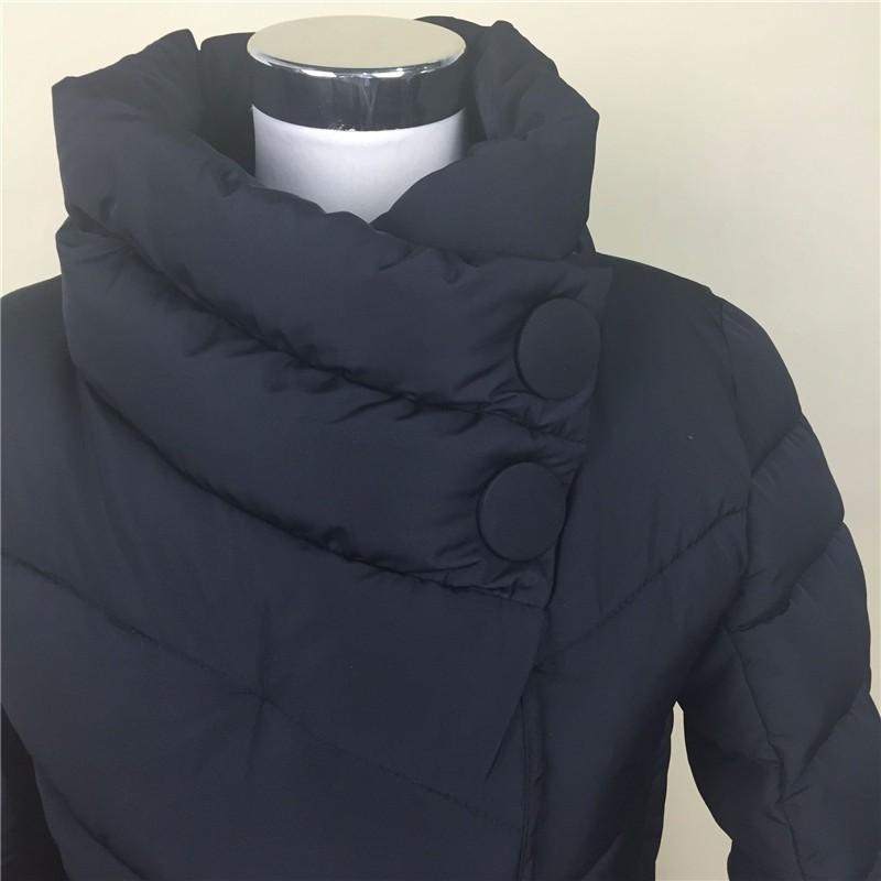 Скидки на 2016 зимняя куртка женщины утка вниз пальто высокий воротник с поясом парки для женщин зимние 4 цветов теплый верхняя одежда пальто