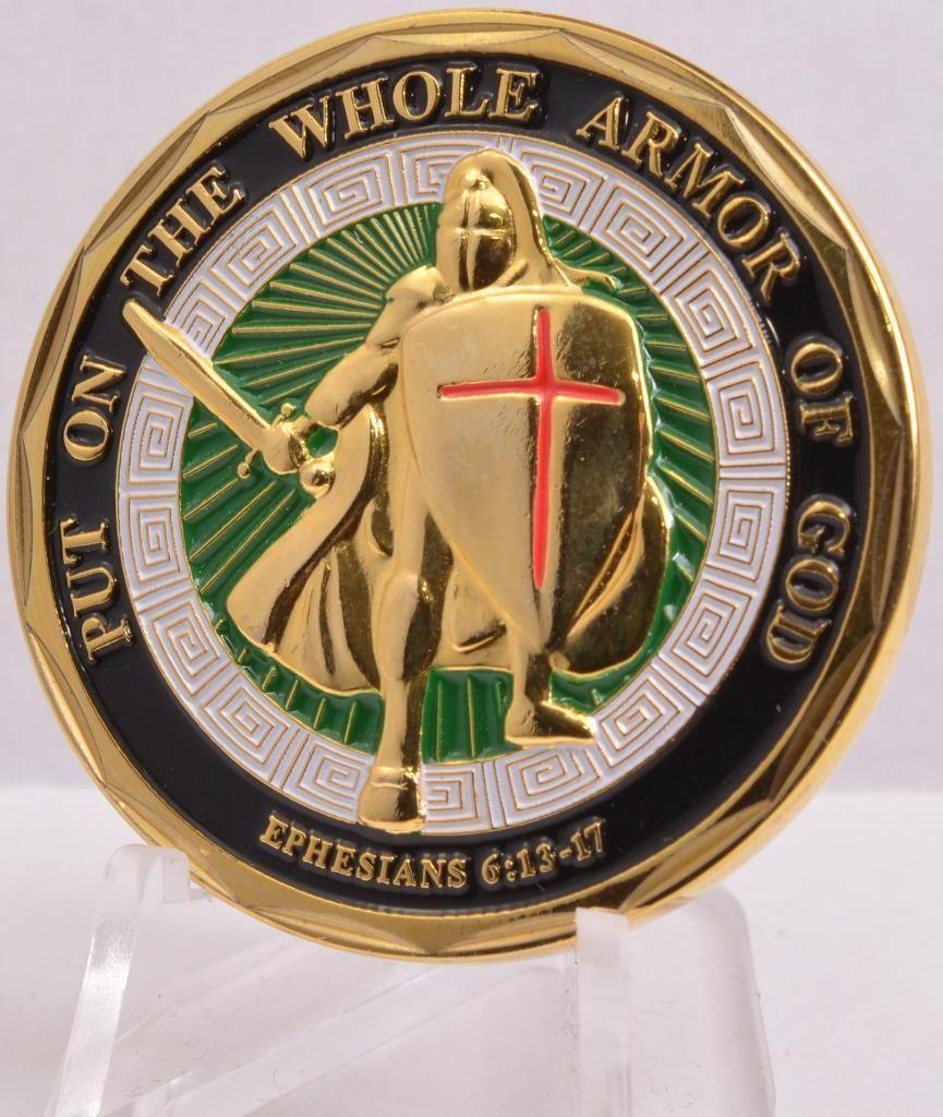 USMC Marine Corps - Armor of God Challenge Coin 10pcs/lot Free Shipping(China (Mainland))
