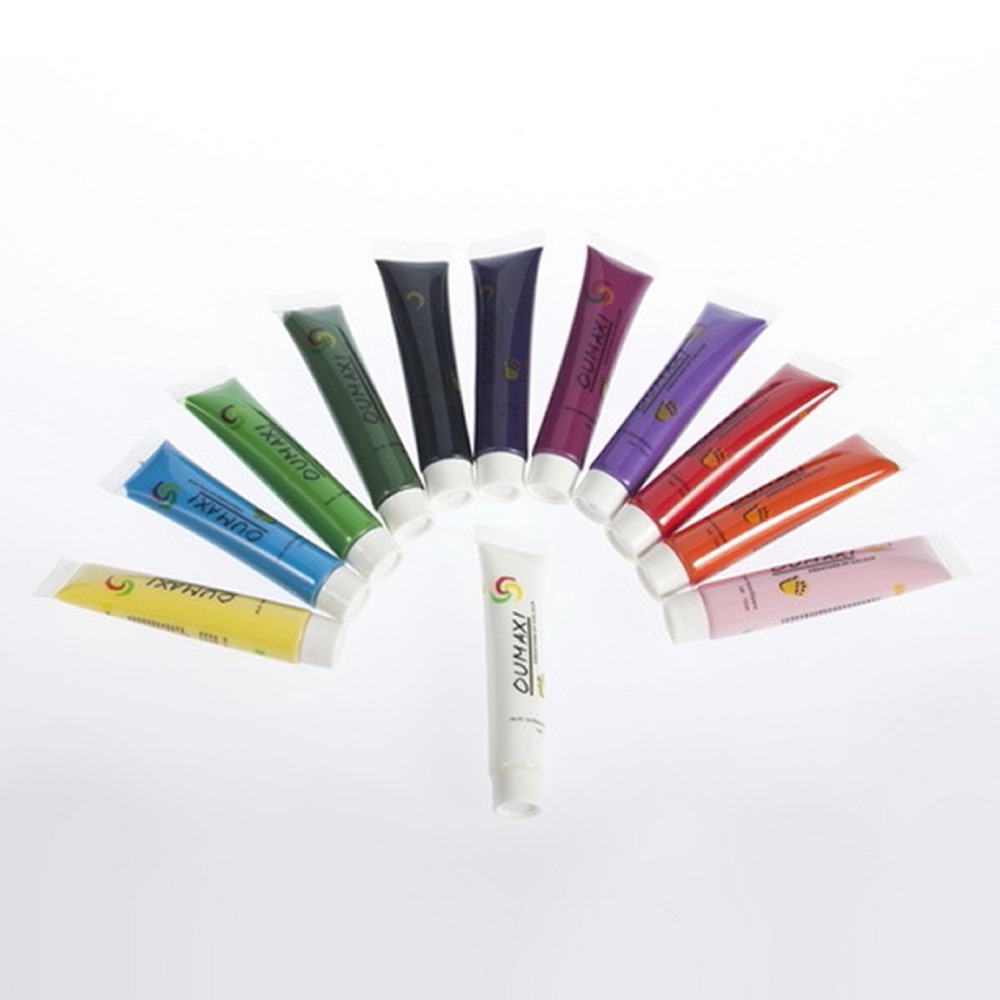1set Acrylic UV Gel Design 3D Paint Tube Nail Art Pen 12 Colors Nail Polish False tips Drawing