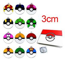 12 Styles Cartoon Pocket Pikachu Pokemonball Action Figures Poke Ball Anime Keychain Keyring Pendant Halloween/christmas gifts(China (Mainland))