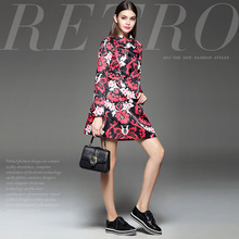 New winter fashion European and American star the same paragraph retro style temperament jacquard skirt suits (two-piece)