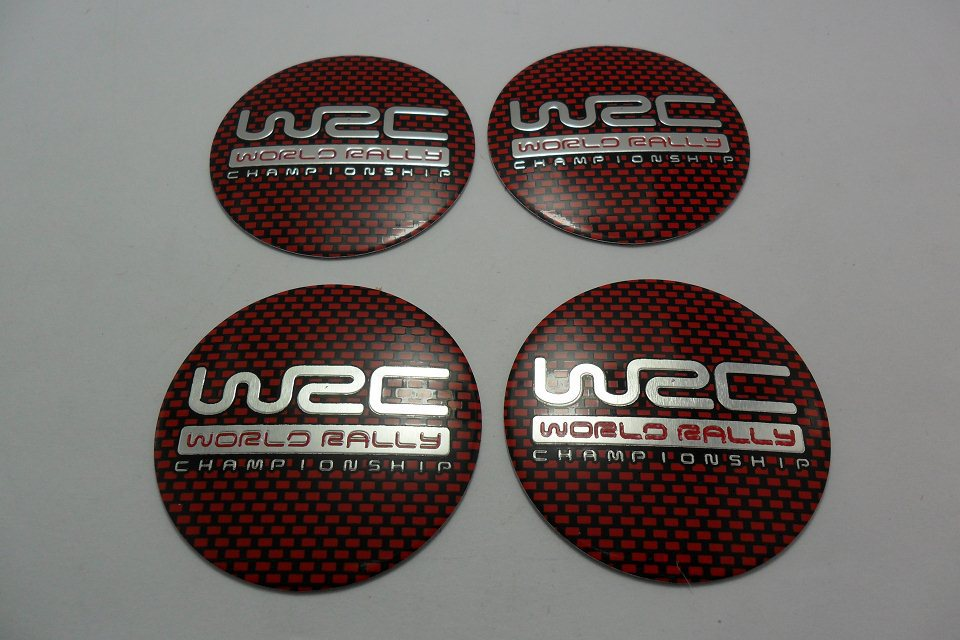 Wholesale New One Set Of 4pcs 56.5mm CAR Tyre Wheel Center Hub Cap Sticker Emblem Badge Decal Fit For WRC Red car styling(China (Mainland))