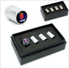 QM-40 Wholesale Chrome Metal Wheel Tire Valve Caps Stem Air case for Saab car styling  free delivery(China (Mainland))