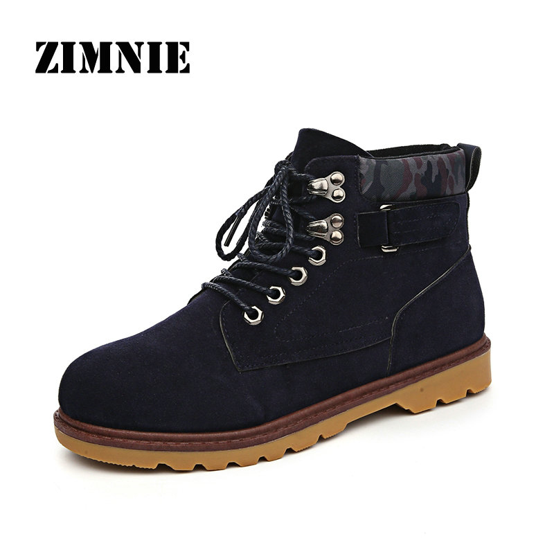 New Men Autumn Winter Martin Boots Men Shoes Outdoor Waterproof Rubber Snow Tooling Boots Leisure Suede pu Leather Ankle Boots(China (Mainland))