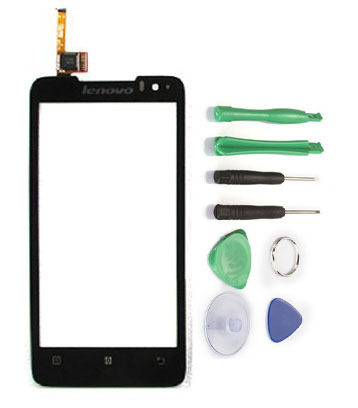 New Black For Lenovo P770 Glass LCD Touch Screen Panel Digitizer Free shipping+Tools Replacement Parts for Mobile Phone