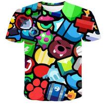 2019 verano niños Camiseta estampada de manga corta bebé niñas/niño camisetas de secado rápido divertido paño de red camiseta de cuello redondo(China)