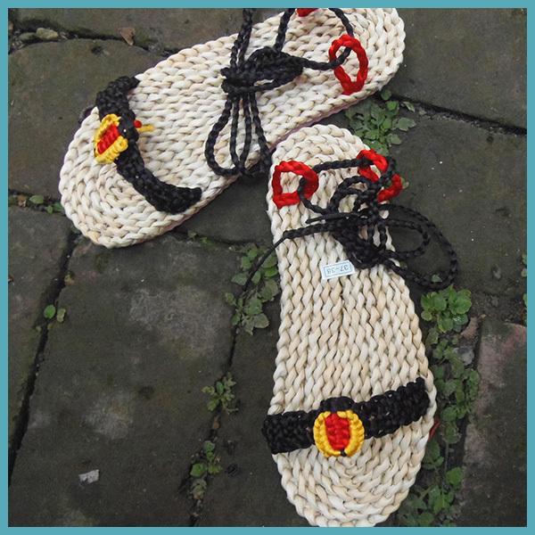 Women open toe Sandalias Ladies Straw Shoes Woman Flat Summer Designer cork Sandals cut ankle Flip Flops - Sunny Sisters store