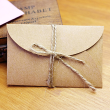 Handmade mini kraft paper envelope  5.8x9cm 200pcs/lot(China (Mainland))