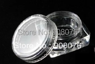 Best selling! Square bottom cream box 3g eyeshadow sample bottles Transparent plastic Refillable Bottles - KingSun Fashion Shop store