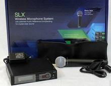 Alta calidad SLX24 / BETA58 micrófono inalámbrico de mano única UHF Vocal Microfone sistema con 6 pin de mano(China (Mainland))