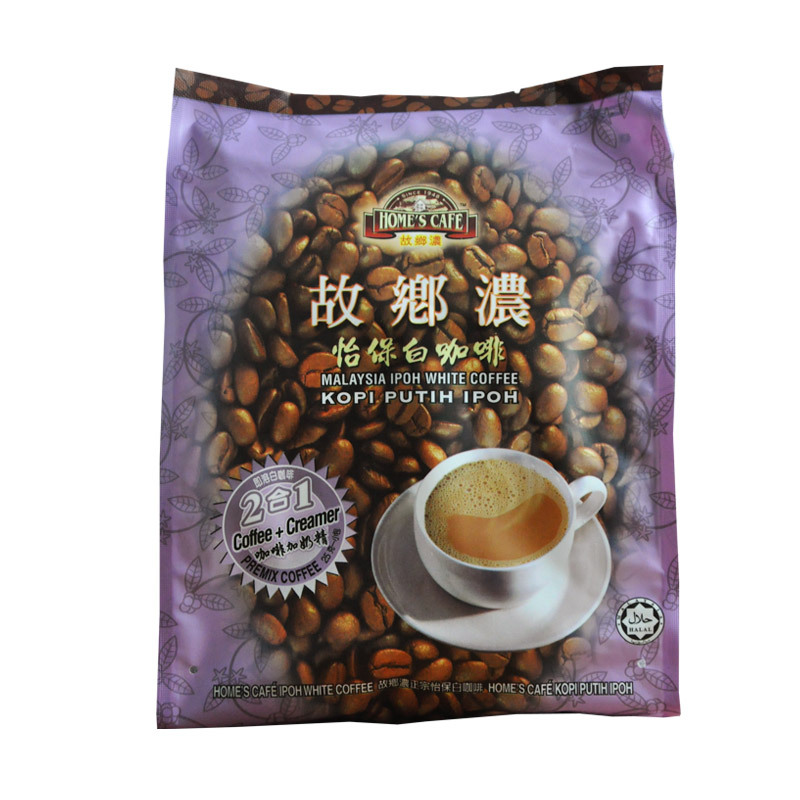 Malaysia ipoh white coffee imported from hometown 2 in 1 sugarless 375 g instant coffee free