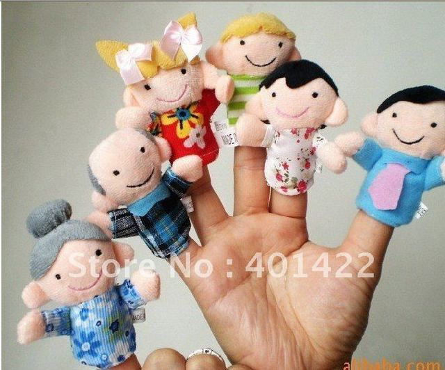 wholesale free shipping plush family finger puppets,wool wear toys,finger doll,christmas gifts,baby doll,cartoon toys
