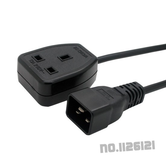 UPS Power Extension cord IEC C20 Male plug to UK 13A Female Socket BS1363 L=1.8meter(China (Mainland))
