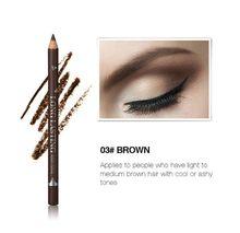 MOONBIFFY Novos Olhos Pigmento Sobrancelha Cosméticos para As Mulheres Homem de Maquiagem de Longa Duração Lápis de Sobrancelha Marrom Café Preto À Prova D' Água(China)