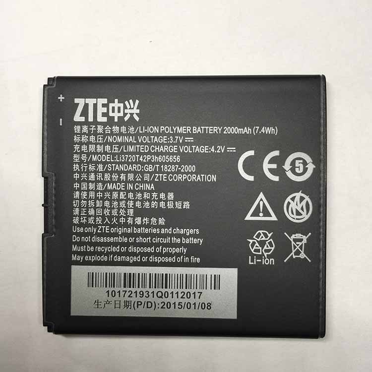 Mobile Phone Li3720T42P3h605656 2000mAh Battery FOR ZTE N881F U819 V965 High Quality Original Battery For ZTE N881F