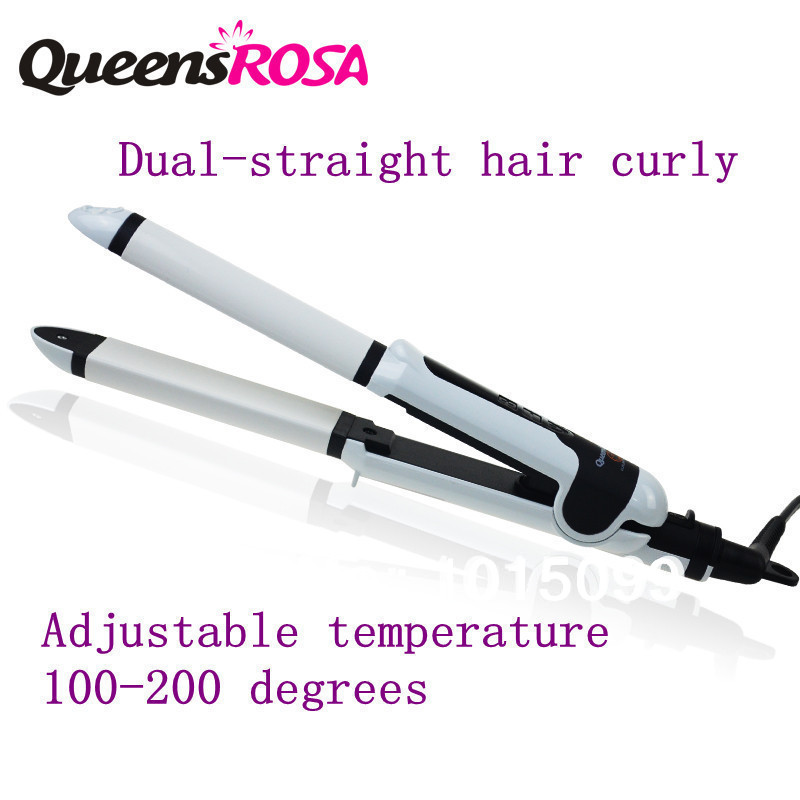 curling wand flat ceramic hair straightener magic perfect curl hair styling tool professional hair salon equipment UK/EU/US PLUG(China (Mainland))