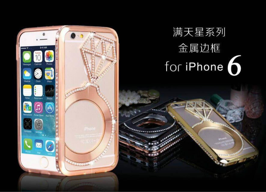 Wholesale new luxury star diamond phone covers for iphone6 4.7inch cases original brand diamond phone cases freeshipping(China (Mainland))
