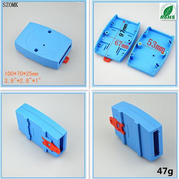 5 pcs a lot blue color plastic din-rail enclosure 100*70*25mm   3.94x2.76x0.98<br><br>Aliexpress