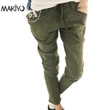 MAKIYO Fashion Women Casual Pants Special Design Pockets Skinny Pencil Pants Stretchable Feet Pants Trousers Plus Size(China (Mainland))
