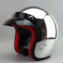 2014 new watch free shipping motorcycle helmet open face 3/4 vintage motocross helmets(China (Mainland))